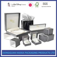 Buy cheap Precious Jewelry Decorative Gift Boxes With Lids 4C Custom Printable Foil Stamping Box from wholesalers