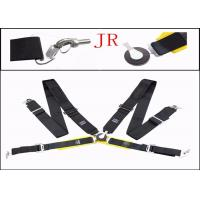Buy cheap Auto Parts Car Safety Seat Belts , Flexibility Fabric Black Retractable Seat Belts from wholesalers