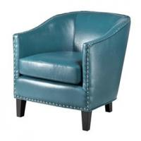 Buy cheap Faux Leather Oversized Living Room ChairWith Single Row Nail Head Trim from wholesalers