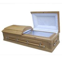 Buy cheap CIQ Certificate Funeral Coffin / Wood Caskets With Lining And Lid Lining from wholesalers