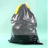Buy cheap LDPE Black Heave Duty Plastic Drawstring Garbage Bag for Bin from wholesalers