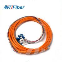 Buy cheap FTTH SC-APC Multi Mode Fiber Optic Pigtail OM1 OM2 3M With Orange Jacket from wholesalers