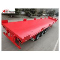 Buy cheap Heavy Duty Long Flatbed Semi Trailer 12R22.5 Radial Tyres For Cargo from wholesalers