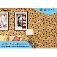 Buy cheap Soundproof Wood 3D Wallpaper Home Vinyl Wallpaper For TV Background from wholesalers