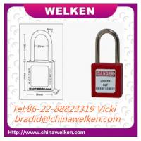 Buy cheap ABS Material ,16 Colors optional, Keyed to differ, long shackle Red Safety Padlock from wholesalers
