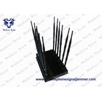 Buy cheap Black Cover Mobile Phone Signal Jammer 6.0kg Weight With 100 - 240V AC Adapter product