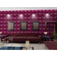 Buy cheap Luxury Living Room 3D Wall Coverings / Wall Art 3D Wall Panels with Plant Fiber 500*500 mm product