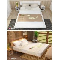 Buy cheap Simple Japanese tatami type bed 1.5 meters MDF with metal double bed and 1.8 from wholesalers