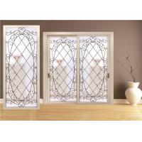 Double Pane Sliding Glass DoorHollow Stained Glass Panels Air / Argon Insulating