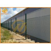 Buy cheap 3.3m Height Galvanized Clear View Safety Fence / Security Fence Powder Coated from wholesalers