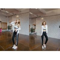 Buy cheap Lycra Material Casual Sport Pants High Waist Trendy Side Striped For Women product