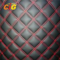 Buy cheap 100% Polyester Sponge PVC Leather for Cat Mat Car Seat Cover 150CM Width product