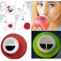 Buy cheap Red Green Round Apple Silicone Suction Cup Lip Plumper CandyLipz Non - Toxic from wholesalers