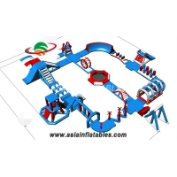 Buy cheap Blue Color 30 M  TUV Water Park Inflatable Water Park Equipment Water Park For Sale from wholesalers