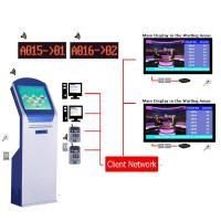 Buy cheap High Quality Arabic Multilingual Wireless LCD Counter Display EQMS Electronic Queue Management Systems Solution For Bank from wholesalers