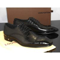 Buy cheap Louis Vuitton Men Calfskin Leather Lace Up Flat Shoes from wholesalers