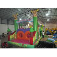 Buy cheap Inflatable Parcours Zoo animals Insane inflatable obstacle course sessions wildlife park inflatable obstacle courses from wholesalers