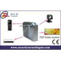 Buy cheap Tripod turnstile Electronic Ticketing Systems , 1D 2D Bar Code Support from wholesalers