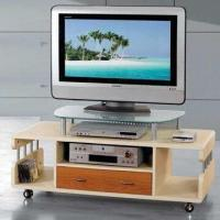 Buy cheap TV Stand with Tempered Glass, MDF, and Power-coated Steel Tube from wholesalers