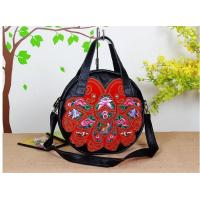 Buy cheap 100% Genuine Leather Embroidery Shoulder Bag large size flower shoulder bag our only design from wholesalers