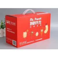 Buy cheap Offset Printing Corrugated Packaging Box F - Flute Any Size With Plastic Handle from wholesalers