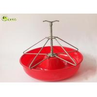 Buy cheap Red Porcine Farming PP Pig Feeding Trough Poultry Equipment Piglet Farrow Pen Bowl from wholesalers