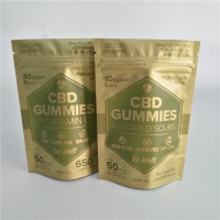Buy cheap 5oz 50mg Cbd Gummies Pouch VMPET Stand Up Ziplock Pouch from wholesalers