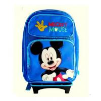 """Buy cheap Disney Mickey Mouse Rolling Backpack With DETACHABLE Wheeled Trolley- 16"""" Large BLUE School Bookbag from wholesalers"""