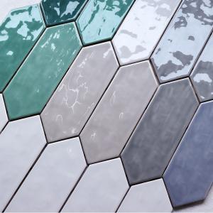 Buy cheap 100x300 Arrow Shaped Decorative Wall Tiles For Kitchen Backsplash Eco Friendly product