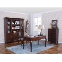 Buy cheap Rubber Wood Home office room furniture bookcase set by Glass door with Shelves and Study desk Computer table from wholesalers