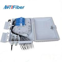 Buy cheap 8 12 16 Core Fiber Optic Distribution Box ODB SC LC Connectors White Color For FTTH product