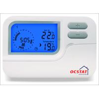 Buy cheap LED Blue Backlight Programmable Thermostat with Manual Override Mode from wholesalers
