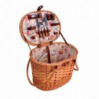 Buy cheap Wicker Picnic Hamper for 2 Persons, Made of Steamed Willow from wholesalers
