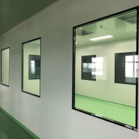 Buy cheap Explosion Proof Double Tempered Cleanroom Window Mechanical Panel from wholesalers