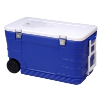 Buy cheap 52L Cooler Box With wheel ice box cooling bucket cold storage bin  plastic cooler box for fishing from wholesalers