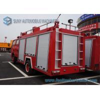 Buy cheap Water Tank / Dry Powder Fire Fight Truck With Double Row / Air Braking from wholesalers