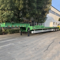 Buy cheap Air Suspension Excavato Loader 42 Feet 35T Low Bed Semi Trailer from wholesalers