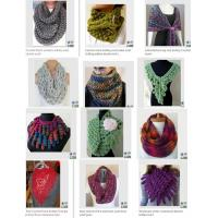 China Fashion Accessory New Style Knitting Scarf Loopschal Wave Knit Scarf, Crocheted Ruffle Sca on sale