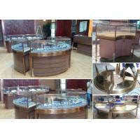 Buy cheap Elegant Design Countertop Jewelry Display Cases Stable Stainless Steel Frame Wood product