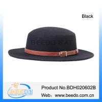 Buy cheap Hot new product 100% wool felt wide brim tall crown fedora hat for boys from wholesalers