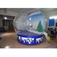 Buy cheap Customized Inflatable Advertising Balloons , Clear PVC Xmas Inflatable Snow Igloo from wholesalers