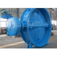 Buy cheap Replaceable Soft Seated Double Eccentric Double Flanged End Butterfly Valve For Clear Water from wholesalers