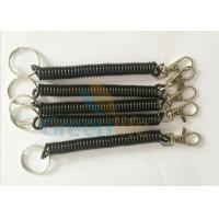 Buy cheap Popular Trigger Snap Black Coiled Key Lanyard W / Split Ring & Metal Clip from wholesalers
