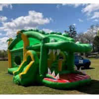 Buy cheap Crocodile Inflatable Bounce House Combo Double Stitching For Family Center from wholesalers