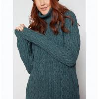 Buy cheap Cable Knitted High Neck Pullover , Custom Warm Easy Crochet Pullover Sweater from wholesalers