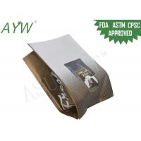 Buy cheap Square Box Coffee Tea Bags Block Bottom Custom Printed With Clear Window from wholesalers