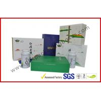 China Offset printed Tea / Moon Cake Gift Packaging Box , Customized 157g Printing Paper Gift Packaging Boxes on sale