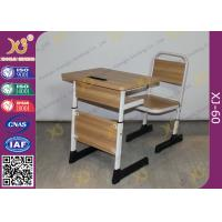 Buy cheap Iron Legs Screws Adjustable Student Desk And Chair Set For Elementary School from wholesalers