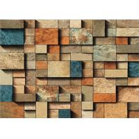 Buy cheap Waterproof 3D Faux Brick Wall Covering For Kitchen / Livingroom , 0.53*10m Roll Size product