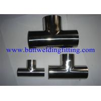 Buy cheap A403 WP316L WP321 WP310S Stainless Steel Tee Equal Seamless Reducer Tee from wholesalers